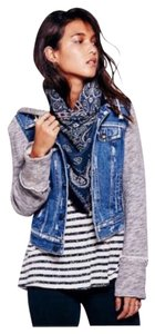 Free People Denim and Gray Womens Jean Jacket