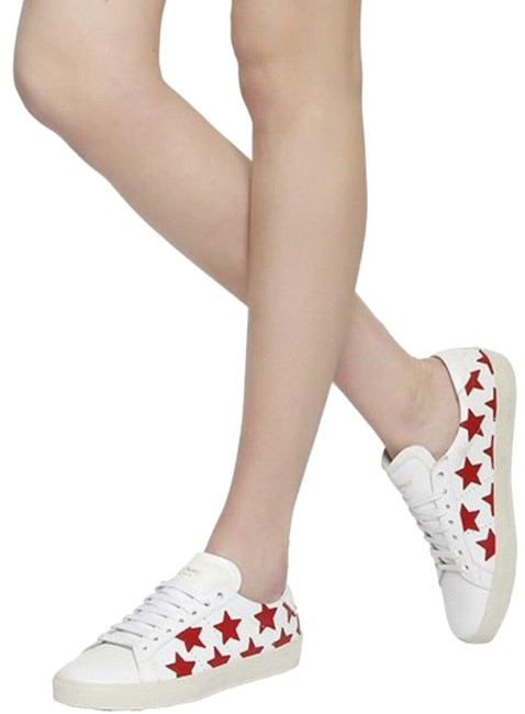 Item - White/Red Court Classic Star-print Sneakers Size EU 37 (Approx. US 7) Regular (M, B)