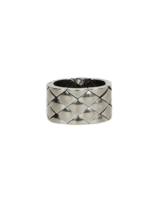 Item - White Gold 18k Quilted Coco Crush Matelasse Thick Band 6 Ring
