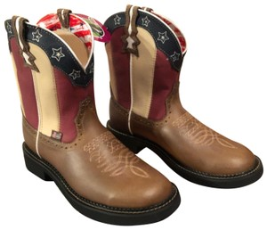 Justin Boots red/white/blue Boots