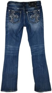 Miss Me Embellished Blingy Boot Cut Jeans-Distressed