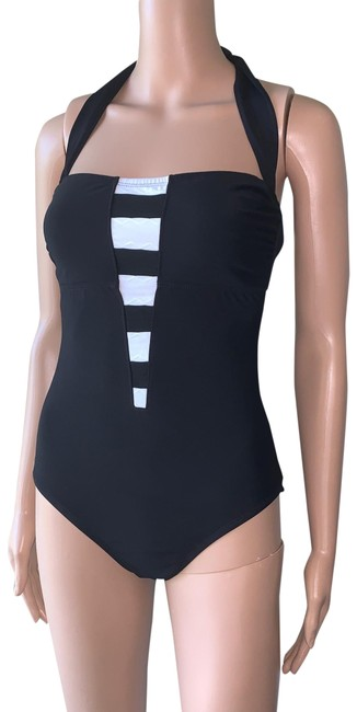 Item - Black Swimwear One-piece Bathing Suit Size 8 (M)