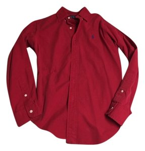 Polo Ralph Lauren Button Down Shirt Red Green