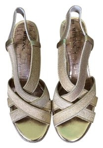 Merona Gold Wedges