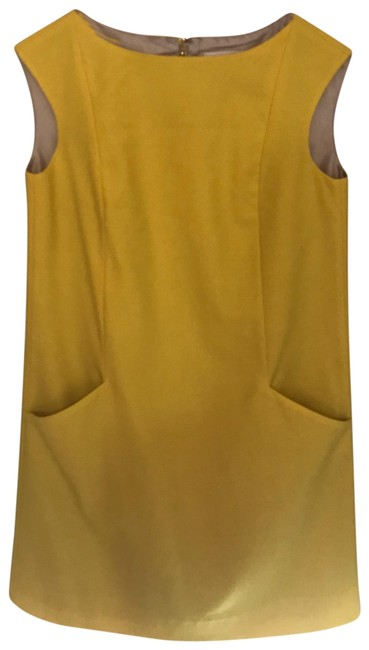 Item - Yellow Sunny Silver Lining Mid-length Work/Office Dress Size 4 (S)