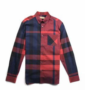 Burberry Button Down Shirt bright red