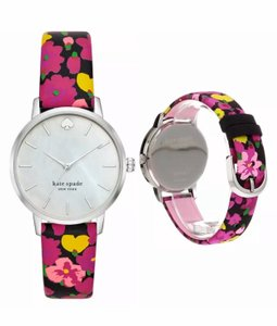 Kate Spade Kate Spade Women's Metro Multicolored Floral Leather Strap Watch KSW1512 with gift box new with tag