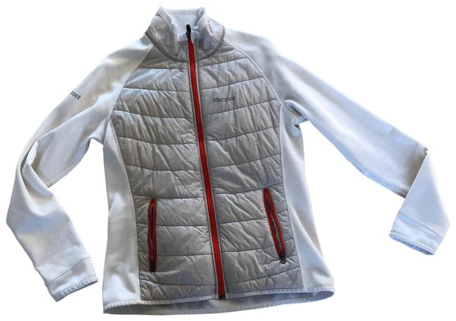 Item - White Cream Coral Longsleeved Jacket with Zipper M Coat Size 8 (M)