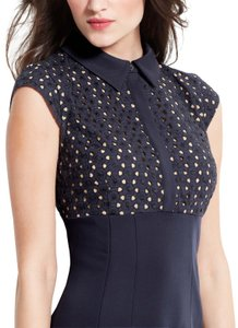 Ann Taylor Eyelet Bodice Collared Dress