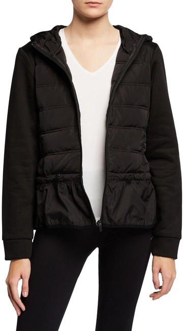 Item - Black Peplum Quilted Hooded Puffer Style No. Bmax5001 Coat Size 12 (L)