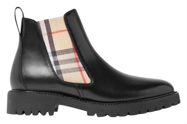 Item - Black Vintage Check Leather Chelsea Boots/Booties Size EU 35 (Approx. US 5) Regular (M, B)