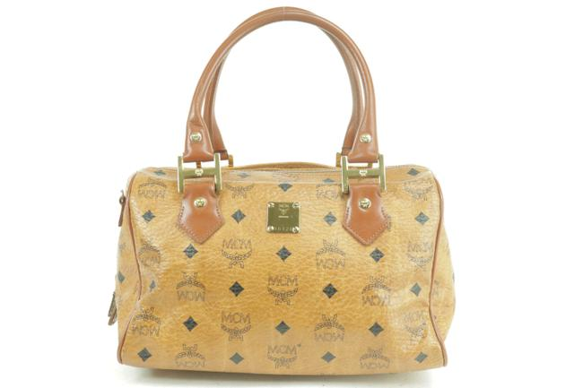 Item - Monogram Visetos Boston 231455 Cognac Coated Canvas Satchel