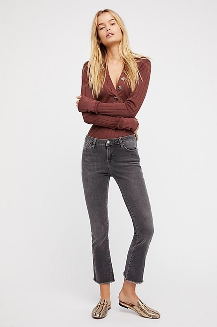 Free People Straight Leg Jeans-Medium Wash Image 1