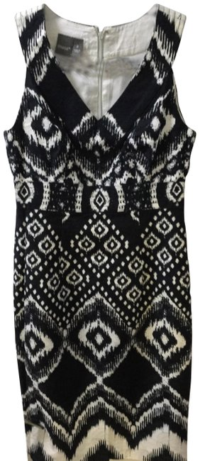Preload https://img-static.tradesy.com/item/26649484/muse-black-and-white-print-mid-length-short-casual-dress-size-2-xs-0-2-650-650.jpg