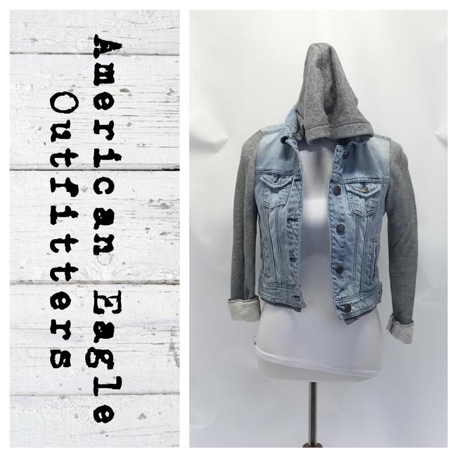 Preload https://img-static.tradesy.com/item/26649507/american-eagle-outfitters-light-washgray-hooded-jacket-size-2-xs-0-0-650-650.jpg