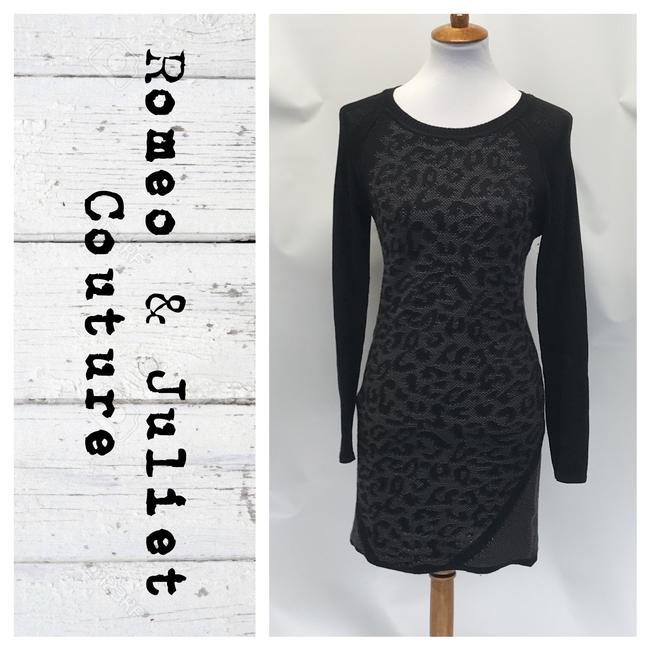 Preload https://img-static.tradesy.com/item/26649533/romeo-and-juliet-couture-blackgray-animal-print-sweater-mid-length-workoffice-dress-size-6-s-0-0-650-650.jpg