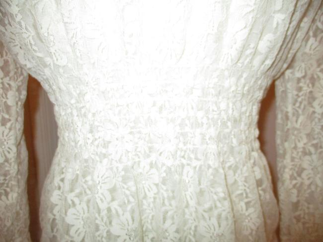 Midnight Velvet Lace Sheer Ruffled Onm001 Top ivory Image 7