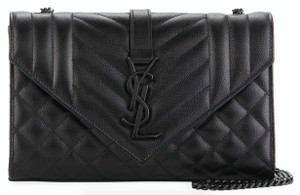 Saint Laurent Ysl Clutch Pouch Monogram Tote in Black