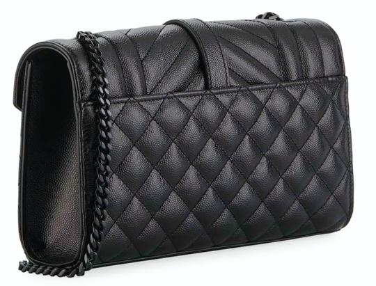 Saint Laurent Ysl Clutch Pouch Monogram Tote in Black Image 1