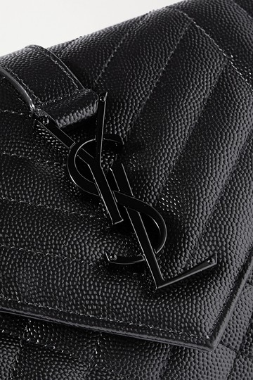 Saint Laurent Ysl Clutch Pouch Monogram Tote in Black Image 2