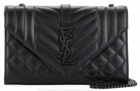 Saint Laurent Ysl Clutch Pouch Monogram Tote in Black Image 7