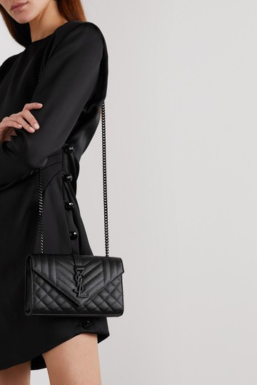 Saint Laurent Ysl Clutch Pouch Monogram Tote in Black Image 9