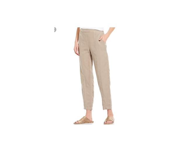 Preload https://img-static.tradesy.com/item/26649612/eileen-fisher-mocha-flat-front-pull-on-organic-tencel-linen-ankle-length-pants-size-16-xl-plus-0x-0-0-650-650.jpg
