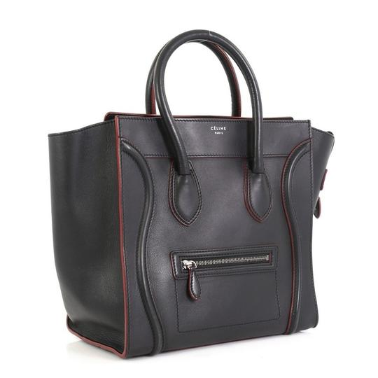 Céline Handbag Leather Tote in black with red Image 1