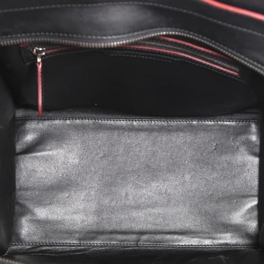 Céline Handbag Leather Tote in black with red Image 4