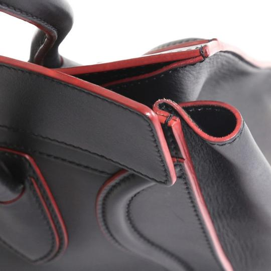 Céline Handbag Leather Tote in black with red Image 5