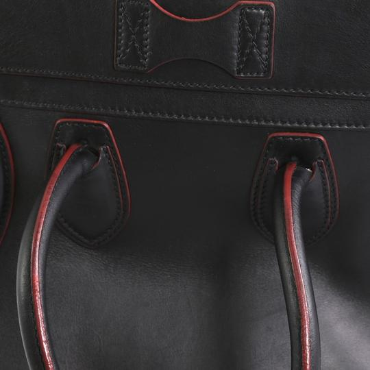 Céline Handbag Leather Tote in black with red Image 6