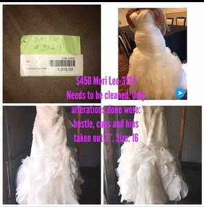 Mori Lee 3124 Modern Wedding Dress Size 16 (XL, Plus 0x)