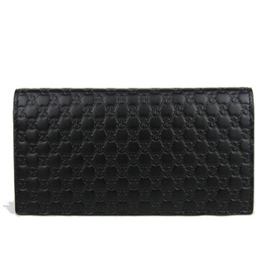 Gucci New Gucci Black Leather Microguccissima Bifold Wallet Card Case Clutch