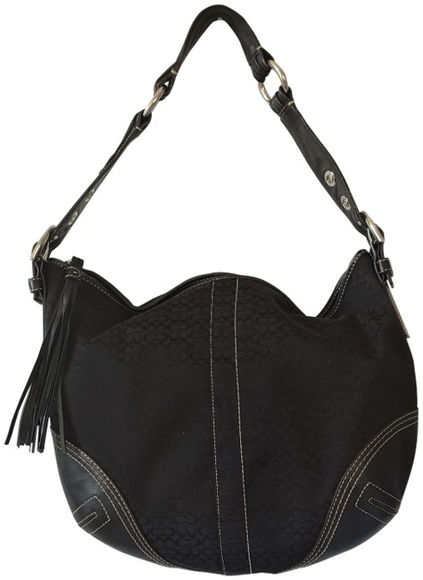Item - Signature Black Leather Hobo Bag