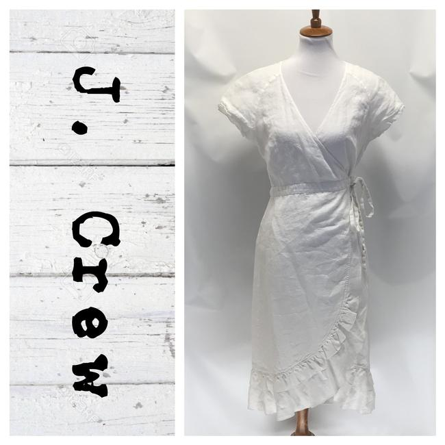 Preload https://img-static.tradesy.com/item/26649651/jcrew-white-traditional-wrap-mid-length-workoffice-dress-size-10-m-0-0-650-650.jpg