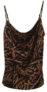Betsey Johnson Top Black And Gold/Brown