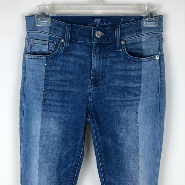 7 For All Mankind Skinny Jeans-Light Wash Image 5