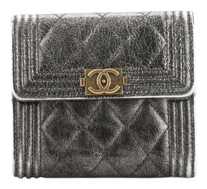 Chanel Wallet Leather brown metallic Clutch