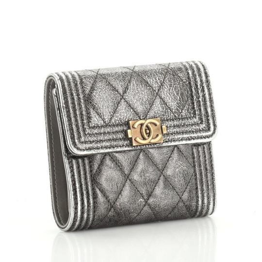 Chanel Wallet Leather brown metallic Clutch Image 1