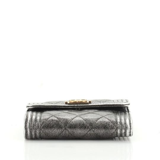 Chanel Wallet Leather brown metallic Clutch Image 3