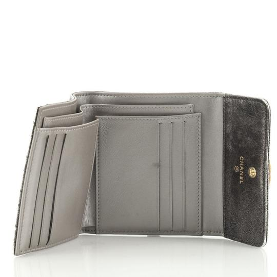 Chanel Wallet Leather brown metallic Clutch Image 4