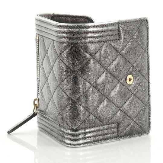 Chanel Wallet Leather brown metallic Clutch Image 6