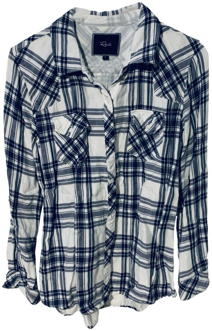 Preload https://img-static.tradesy.com/item/26649738/rails-navy-blue-and-white-kendra-plaid-button-down-top-size-8-m-0-1-650-650.jpg