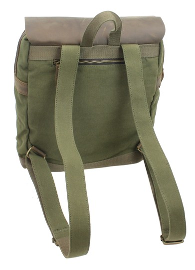Vagarant Vintage Canvas Leather Casual Exclusive Backpack Image 1