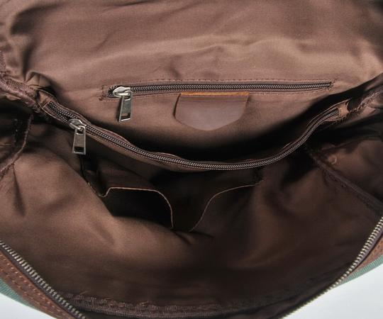 Vagarant Vintage Canvas Leather Casual Exclusive Backpack Image 2