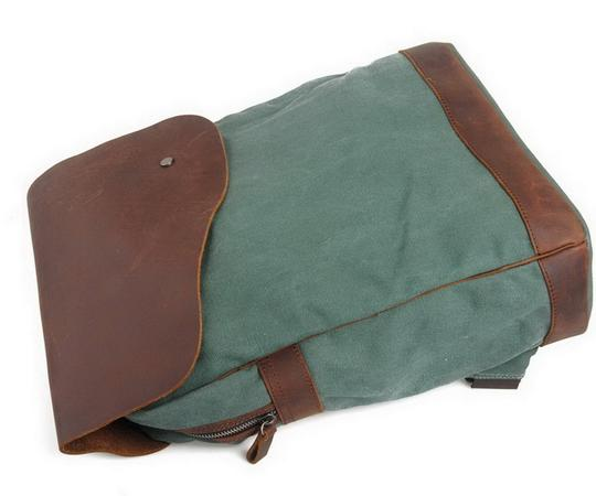 Vagarant Vintage Canvas Leather Casual Exclusive Backpack Image 3