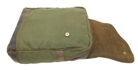 Vagarant Vintage Canvas Leather Casual Exclusive Backpack Image 4