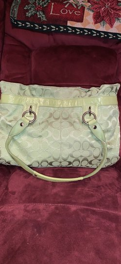Coach Satchel in Lime Green Image 10