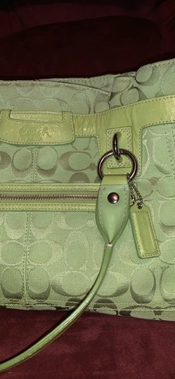 Coach Satchel in Lime Green Image 11