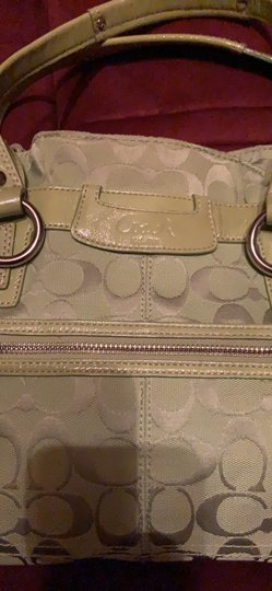 Coach Satchel in Lime Green Image 3